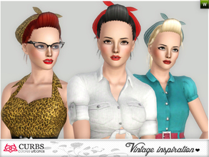 Retro 50s To 80s Sims 3 Hair