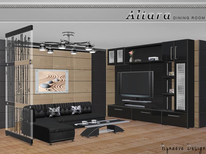 Nynaevedesign 39 s altara living room for Modern living room sims 4