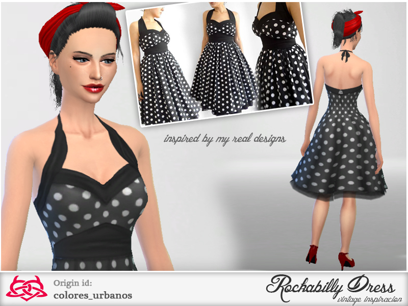 Rockabilly Dress v2. Colores Urbanos  Rockabilly Dress v2