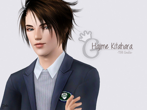 Sims 3 — Hajime Kitahara by Bby-L — A male in his young adult stage. He has brave, charismatic, neat, athletic, and