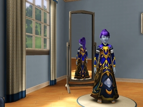 Sims 3 — Nightelf Female Child Dresses2 by egyptiansimlover2 — The white dress is the Garments of Temperance for the