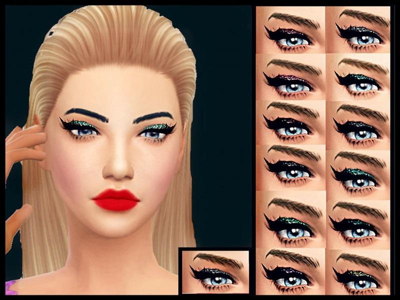 Baarbiie Giirls Glitter Cat Eyeshadow