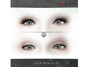 Sims 3 — sclub ts3 mod ea eyelash removal fm by S-Club — Face Overlay replacement which removes EA Eyelash Alpha texture.