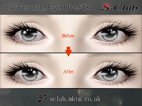 Sims 3 — S-Club ts3 EA Eyeball F UVFix by S-Club — EA default female eyes have the Eyes UV flipped, which is wrong.