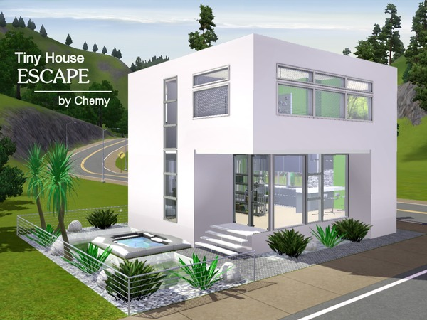 Chemy 39 s tiny house escape for Sims 3 cuisine moderne