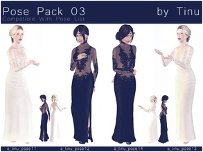 Sims 3 — Pose Pack 03 by Tinu by Tinuleaf — 2 Duo poses compatible with the pose list. Use OMSP and Alt to combine them.