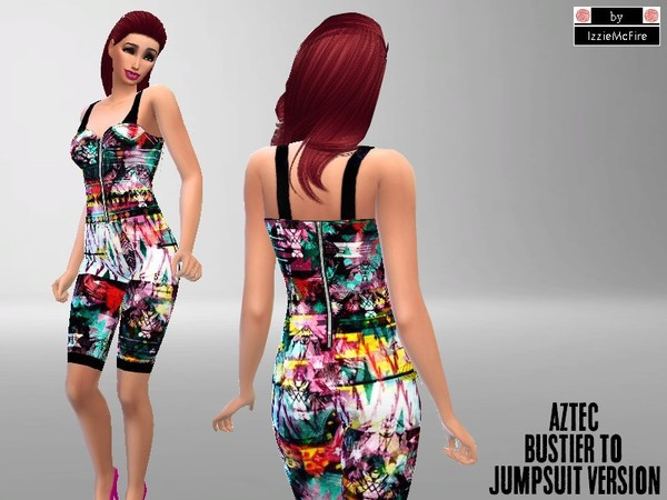 Aztec bustier to jumpsuit version by IzzieMcFire