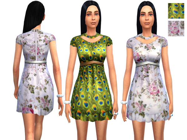 Printed Dress - 2 Designs by Weeky