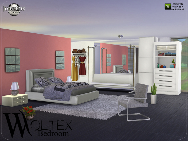 Jomsims 39 woltex bedroom for Room decor sims 4