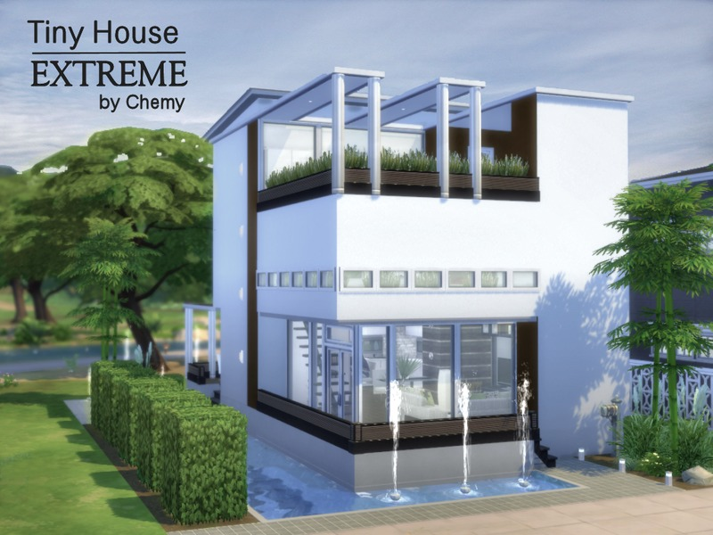 Chemy 39 s tiny house extreme for Sims 4 modern house blueprints