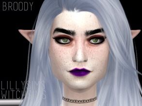 Sims 4 — Broody [SET] by Witch-Sims2 — The full set! A grunge, heroin-chic and brody dalle inspired eye shadow! (why its