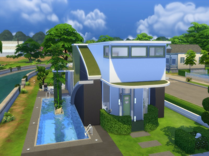 Sims 4 Home Design sims 3 4 bedroom house design Futuristic Design