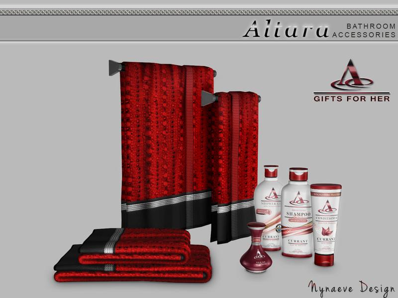 Nynaevedesign 39 s altara bathroom accessories for Bathroom decor sims 3