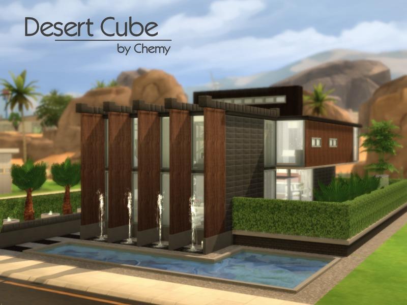 Chemy 39 s desert cube for Garden design sims 4