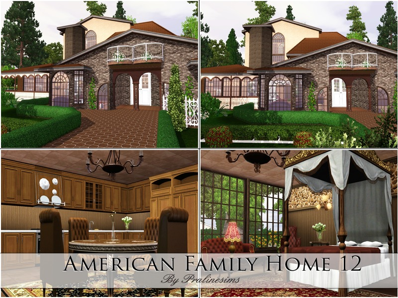 Pralinesims 39 american family home 12 for American family homes