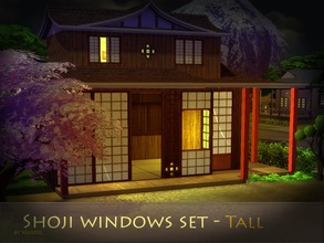 Shoji Windows Set Tall