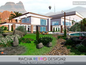 Sims 3 — Racha Retro Design2 by autaki — Retro Modern styles. Modern House for your simmies. Decor Retro color style.