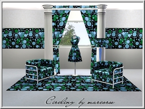 Sims 3 — Circling_marcorse by marcorse — Geometric pattern: layers of circle shapes in green, blue and black