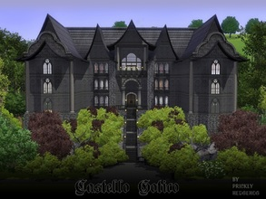 Sims 3 — Castello Gotico by Prickly_Hedgehog — You know that spooky ginormous castle up on the hill, the one all the