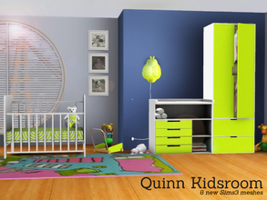 Sims 3 — Quinn Kidsroom by Angela — Quinn Kidsroom, a new nursery for your Sims kids, this set contains the following