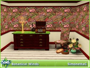 Sims 3 — Botanical Winds by SimonettaC — A botanical garden being uprooted and blown around by the wind. This is a very