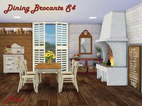Pilar 39 s sims 4 dining room sets for Dining room ideas sims 4