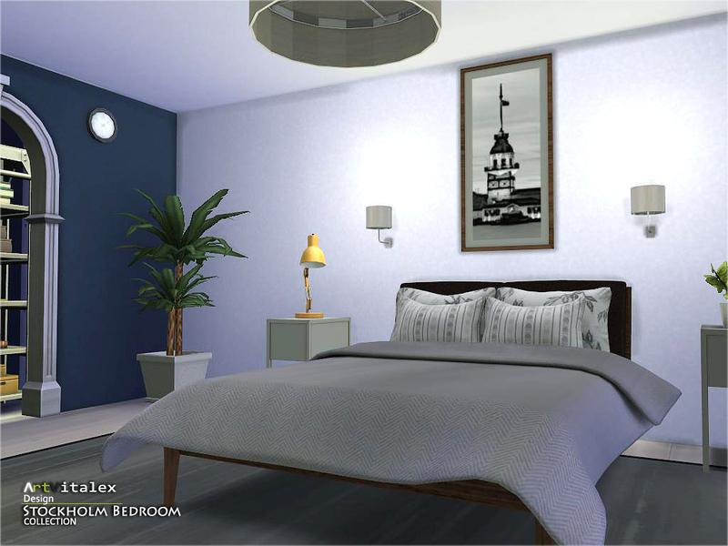Artvitalex 39 s stockholm bedroom for Bedroom designs sims 4