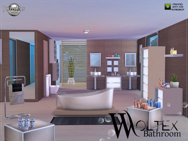 Jomsims 39 woltex bathroom for Sims 3 salon moderne