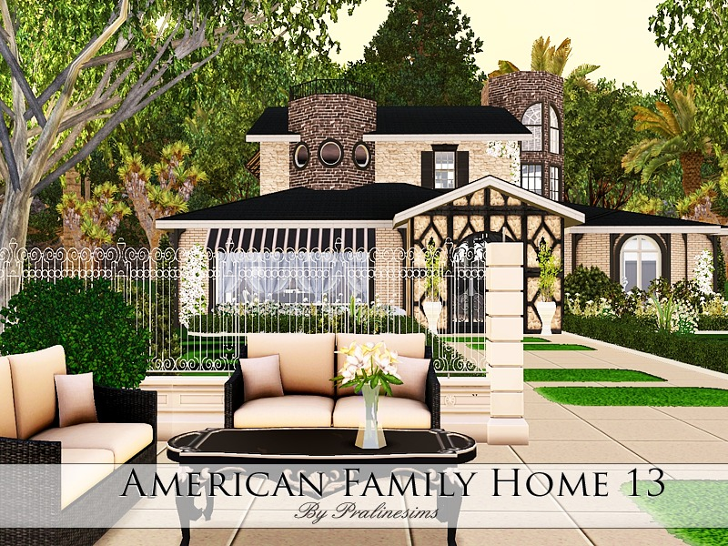 Pralinesims 39 american family home 13 for American family homes