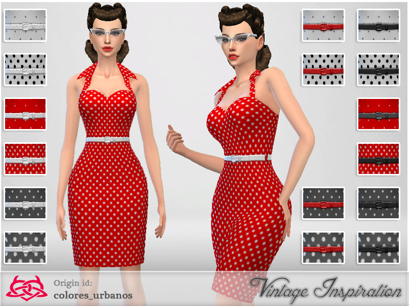 . Colores Urbanos  Recolor Pin Up dress lunares 2
