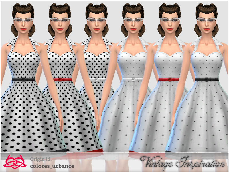 Recolor Rockabilly. Colores Urbanos  Recolor Rockabilly Dress4 lunares 2