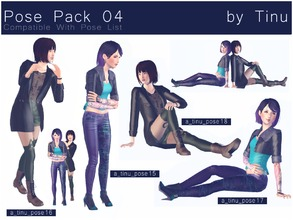 Sims 3 — Pose Pack 04 by Tinu by Tinuleaf — 2 Duo poses compatible with the pose list. Use OMSP and Alt to combine them.