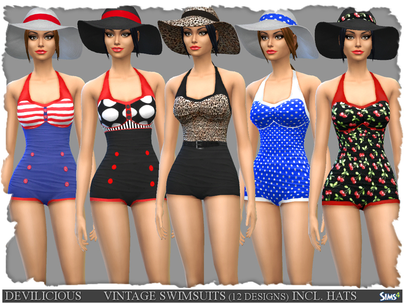 482ad2a85c629 Devilicious' Vintage Swimsuits 12 Designs and Summer Hats