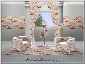 Sims 3 — Blurred Diamonds_marcorse by marcorse — Geometric pattern: connected diamond shapes with a blurred effect in red