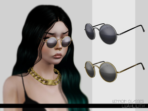 Sims 3 — LeahLillith Lennon Glasses by Leah_Lillith — Lennon Glasses 3 recolorable areas avilable for males and females