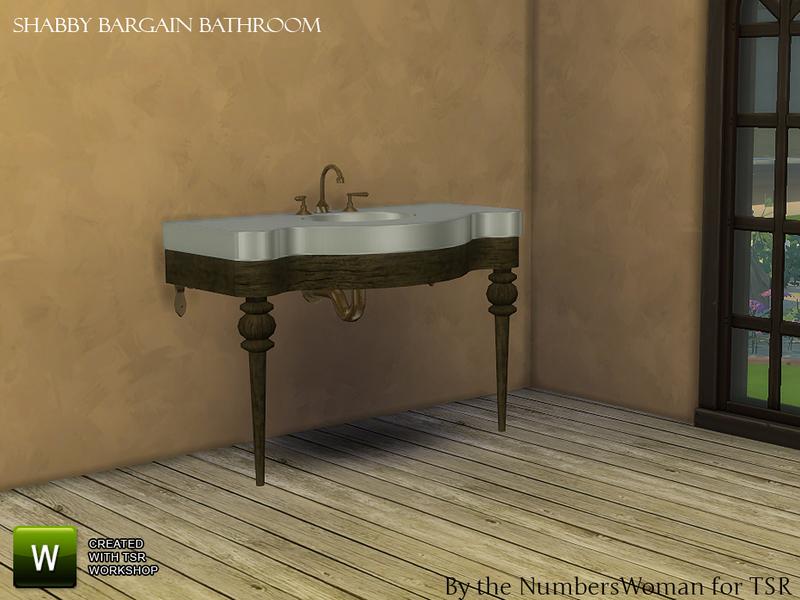TheNumbersWoman\'s Shabby Bargain Shabby Chic Bathroom Sink