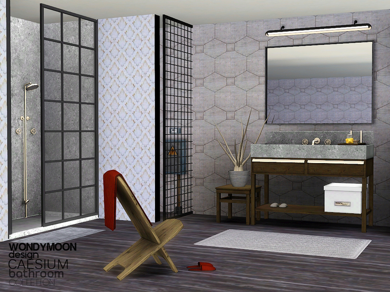 Wondymoon 39 s caesium bathroom for Bathroom ideas sims 3
