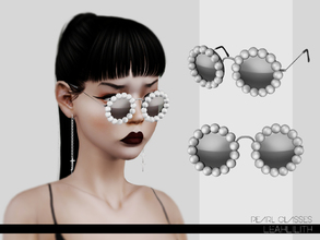 Sims 3 — LeahLillith Pearl Glasses by Leah_Lillith — Pearl Glasses 3 recolorable areas AVILABLE FOR MALES AND FEMALES