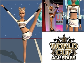 Sims 2 — World Cup ShootingStar Uniform Teen by Cheer4Sims2 — World Cup ShootingStar Uniform Teen