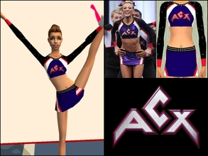 Sims 2 — ACX Cheerleading Uniform Teens by Cheer4Sims2 — ACX Cheerleading Uniform Teens