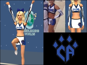 Sims 2 — CA Cheetahs Female Uniform for Teens by Cheer4Sims2 — CA Cheetahs Female Uniform for Teens