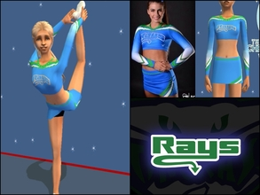 Sims 2 — Stingray Allstars Orange Uniform by Cheer4Sims2 — Stingray Allstars Orange Uniform