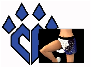 Sims 2 — CA Panthers Cheer Uniform Skirt by Cheer4Sims2 — CA Panthers Cheer Uniform Skirt