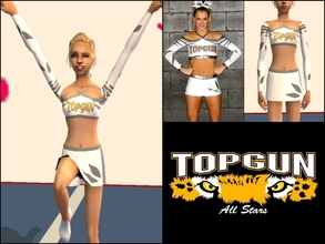 Sims 2 — Top Gun Angels Cheer Uniform by Cheer4Sims2 — Top Gun Angels Cheer Uniform