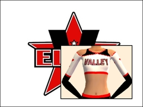 Sims 2 — Valley Elite Cheer Uniform Top by Cheer4Sims2 — Valley Elite Cheer Uniform Top