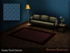 Sims 3 — Norma Flock Pattern by Brunnis-2 — Classic flock style seemless pattern, inspired by the Bates Motel Season 2