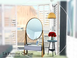 Sims 3 — La Femme Chic by Angela — La Femme Chic, a new small decorative set for your female sims. Set contains a mirror,