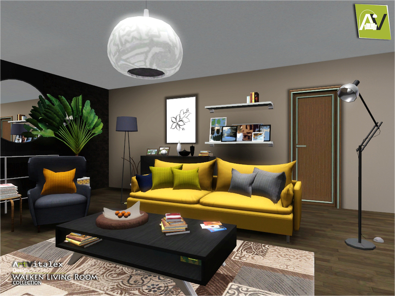 Artvitalex39s walken living room for Sims 3 living room sets