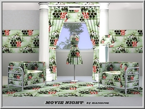 Sims 3 — Movie Night_marcorse by marcorse — Themed pattern: all that's needed for a night at the movies