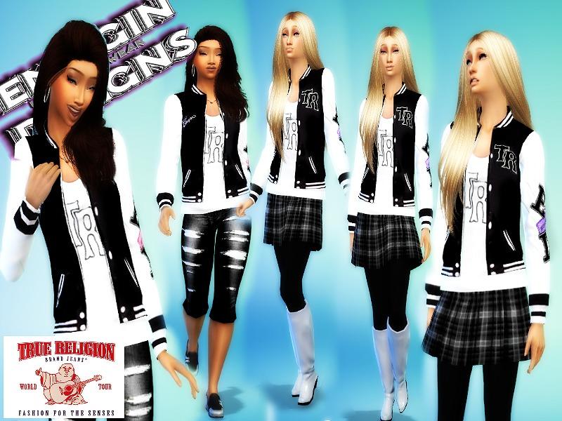 Emagin360 S Ladies True Religion Varsity Jacket 2